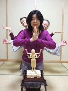 吉田さらさ&ほーりー、そして石井大仏師