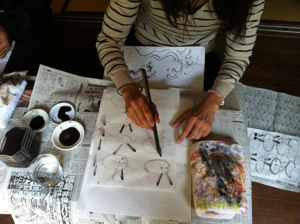 田中芙弥佳さんの水墨画教室