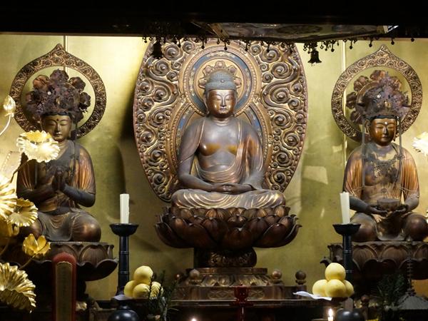 京都・清浄華院の阿弥陀三尊