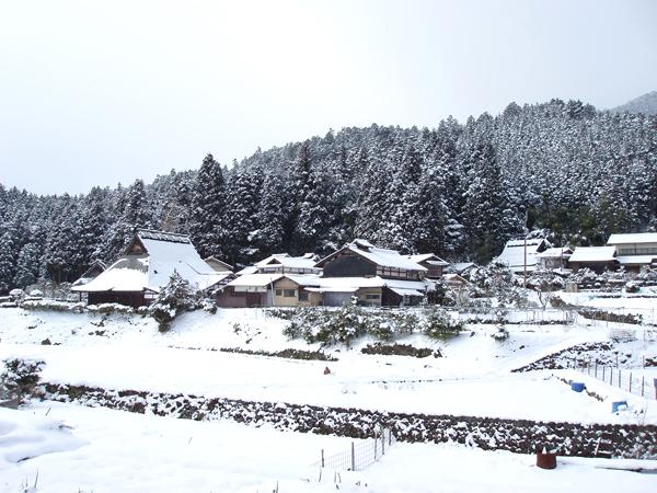 雪景色の京都・大原