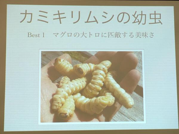 美味しい昆虫ベスト1カミキリムシ