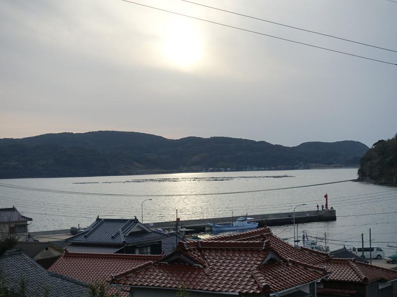 二尊院から見る海の風景