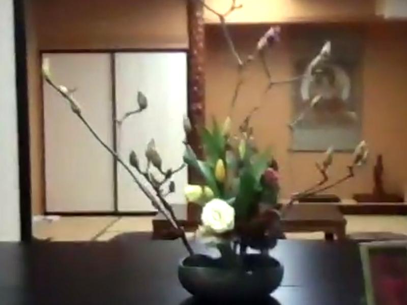 安楽寺の生け花