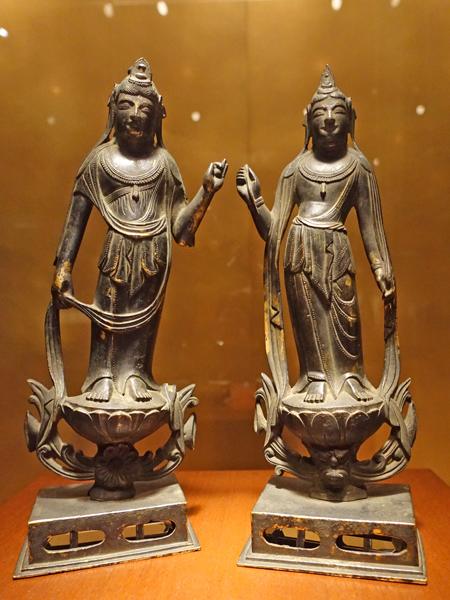 東京国立博物館の観音菩薩と勢至菩薩