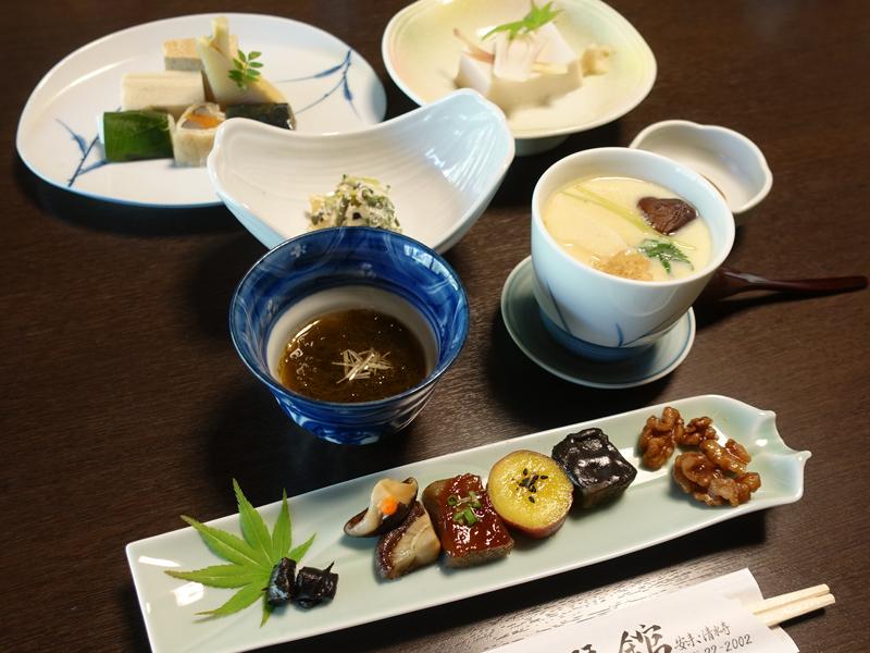安来清水寺松琴館の精進料理