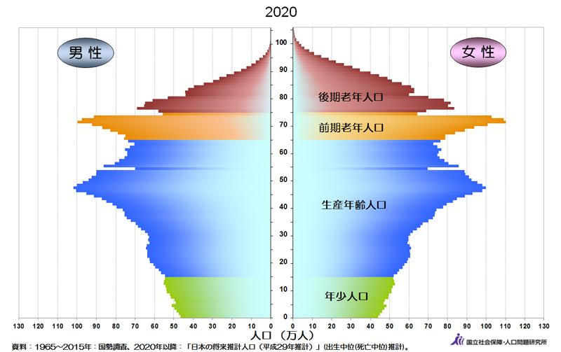 年齢分布(2020年)